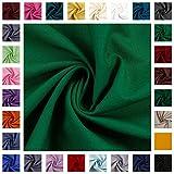 Baumwollstoff Heide, Uni-Farben, Einfarbig, grasgrün,