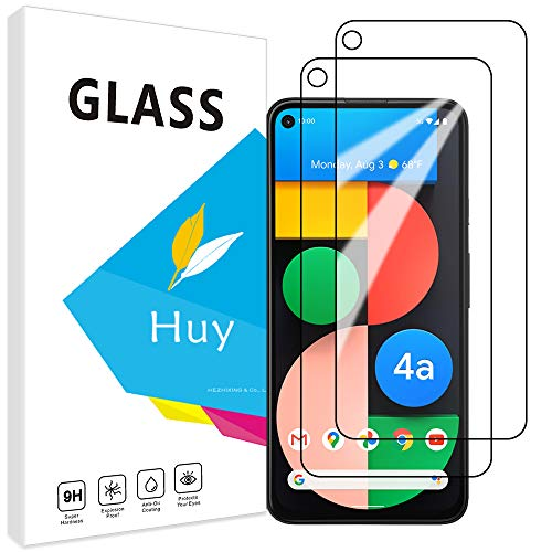 Huy for Google Pixel 4a (5G) ガラスフイルム google pixel 4a 5g フイルム【2枚セッ】 日本旭硝子製 強化ガラス 液晶 保護フィルム 貼り付け簡単 硬度9H 防指紋 透過率98.5%