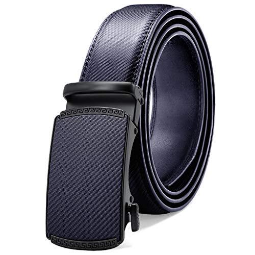 GWYUQG Cinturón de cuero para hombre, hebilla automática, ajustable, correa de cuero de vaca para hombres (color: C, tamaño: 120 cm)