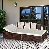 Zoom IMG-1 outsunny divano da esterno convertibile