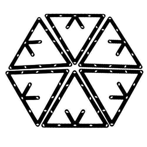 Jaimenalin 6 STK. Magische Rack Billard Dreieck Triangel Queue Zubehoer schwarz 8,9 und 10 Ball