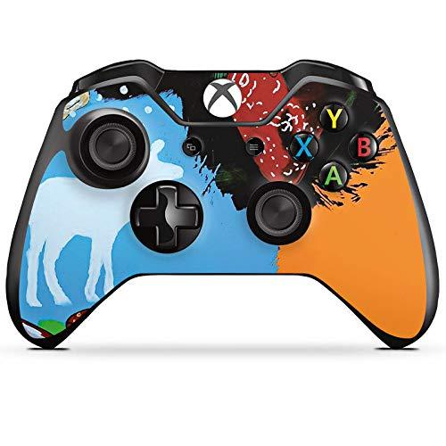 DeinDesign Skin kompatibel mit Microsoft Xbox One Controller Aufkleber Folie Sticker Erdbeere Strawberry Sekt
