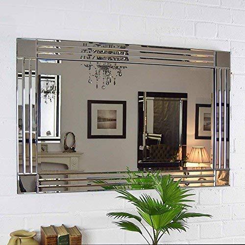 MirrorOutlet Silber Triple abgeschrägten Venezianischer Wandspiegel 3Ft X 2Ft (91x 61cm)
