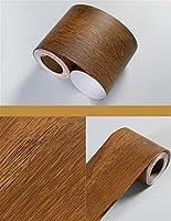 ウォールステッカーステッカー壁紙 DIYウエストライン壁紙キッチンバスルームリビングルームベースボード装飾自己粘着大理石ソリッドカラーウォールステッカー防水 (Color : Wood PW, Dimensions : 5m x 10cm)