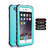 iPhone 5 5S SE Waterproof Case, IP68 Certified Waterproof Shockproof Dirtproof Snowproof Heavy Duty Protective Cover,...