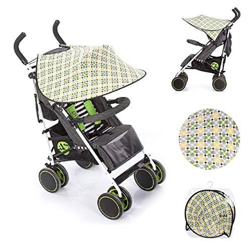 Chipolino Universal Sonnenschutz Kinderwagen Pixel,Schutz vor Sonne, Wind, Staub