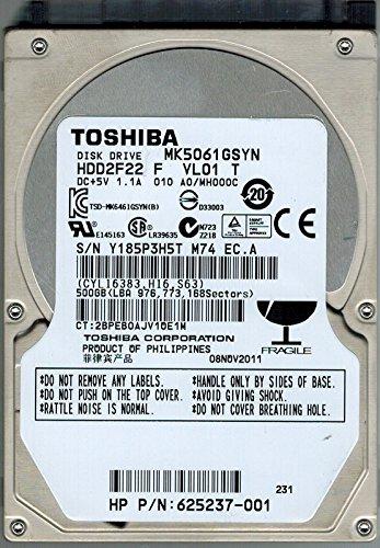 Toshiba mk5061gsyn 500GB hdd2F22F VL01T F/W: A0/mh000C