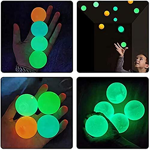 10 Bolas para aliviar el estrés, Bolas de Pared Adhesivas luminiscentes para Techo, Bola de ventilación para apretar Resistente a Las roturas, Ejercicio de ansiedad, Juguete Divertido