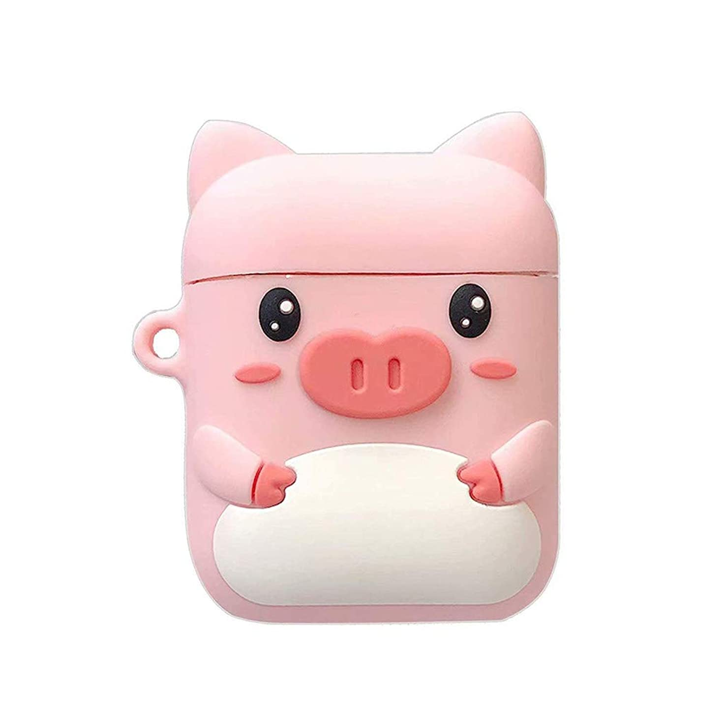 Gowersdee Funny Pig Waterproof Airpods Case 2 & 1 Cover Shockproof and Drop Proof air pods Protective Cover Soft Skin Silicone Sealing