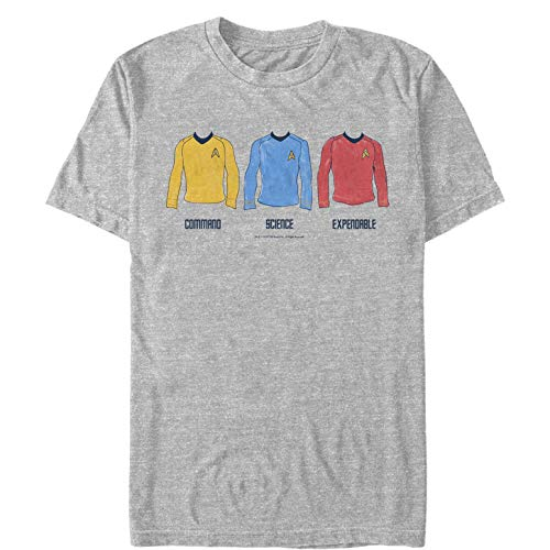 Fifth Sun Star Trek Men's Shirt Color Rankings Athletic Heather T-Shirt