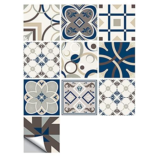 Fawyhr Pegatina de azulejos de estilo español para cocina baño lavabo decoración impermeable a prueba de aceite a prueba de aceite arte papel tapiz azulejo pintura palo palo en azulejos Hermosa Casa