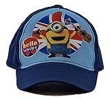 MINION Gorra de béisbol Hello London Blue o Varios tamaños para niños, niñas y niños (54, Azul)