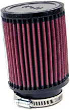K&N RB-0900 Universal Clamp-On Air Filter: Round Straight; 3 in (76 mm) Flange ID; 4 in (102 mm) Height; 4.313 in (110 mm) Base; 4.313 in (110 mm) Top