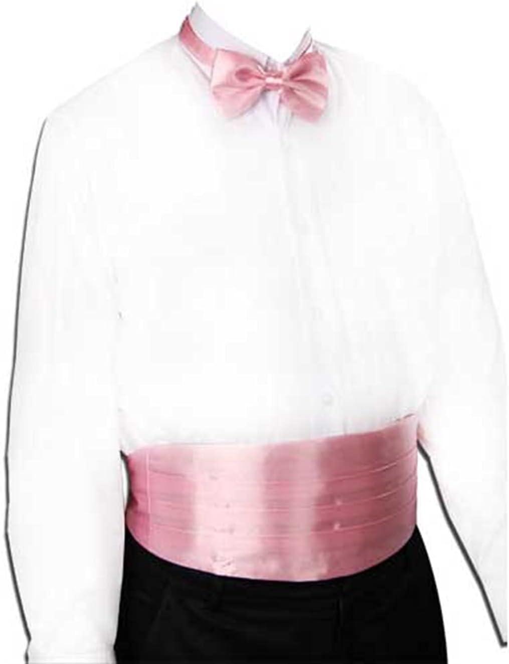 JJZXC Gentleman Solid Wide Silk Satin Elastic Belly Band Tuxedo Cummerbund Commercial Banquet Model Business Elite (Color : E)