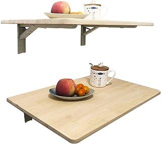 Q&Z Table Murale Rabattable en Bois Bureaux Table Pliante Murale Table De Cuisine Table à Rabat pour Enfant Pliable pour C...
