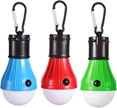 Mobestech LED Camping Light Bulbs with Hook Compact Camping Lantern Tent Lights for Outdoor Hiking Fishing Hurricane Emerg...