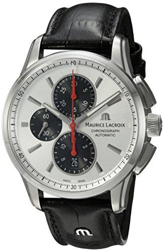 Maurice Lacroix Herren analog Schweizer Automatik Uhr mit Leder Armband PT6388-SS001-131-1
