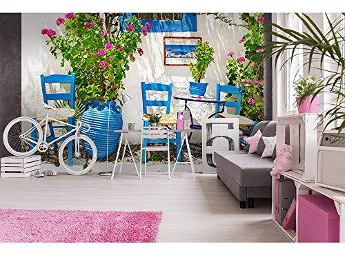 Vlies Fotobehang TRADITIONEEL GRIEKENLAND | Niet-Geweven Foto Mural | Wall Mural - Behang - Reusachtige Wandposter | Premium Kwaliteit - Gemaakt in de EU | 375 cm x 250 cm