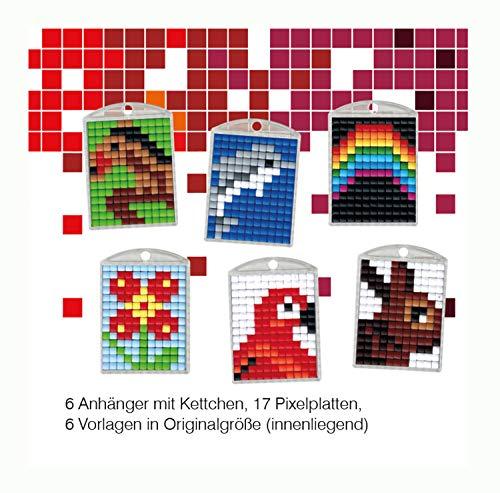 Pracht Creatives Hobby P90011-63501 - Pixel Spaß Bastelset 4, für 6 Medaillons, Schlüsselanhänger, für Kinder, Jungen und Mädchen, ideal als kleines Geschenk, Mitgebsel, für den Kindergeburtstag