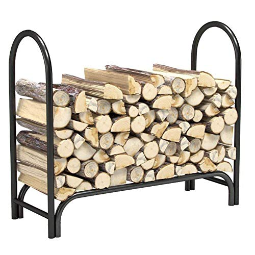 Review Of BECover Heavy Duty Outdoor Firewood Rack for Fireplace,Steel Wood Racks Outside Fire Tools...