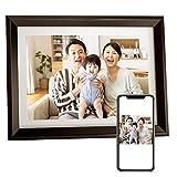 Dragon Touch デジタルフォトフレーム 10.1インチタッチスクリーン 1280*800高解像度 WiFi IPS広視野角 16GB内蔵メモリ 90°~360°回転可能/USBメモリー/SDカード対応/写真動画再生/カレンダー/アラーム 良いギフト 日本語取扱説明書 Classic 10