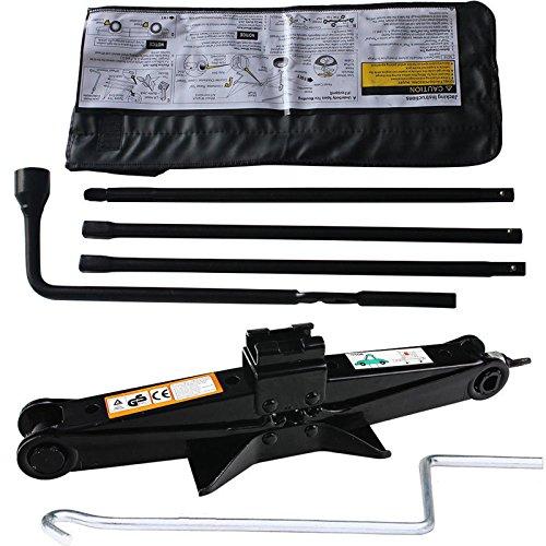 Autofu Spare Tire Wrench and 2 Ton Scissor Jack Set Fits Chevy/GMC/Cadillac/Silverado OEM Lug Nut Repair Tools Kit with Bag, Replace 22969377, 20782708, 22925285, 20782706, 22969370