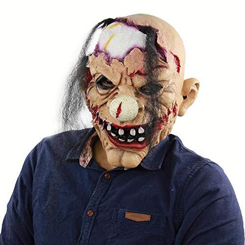 S&D Halloween Horror Zombie Clown Maske, Halloween Ostern Thriller Bloody Role Cosplay Scary Dress Up Horror Zirkus Clown Requisiten Kopfbedeckungen Ausrüstung