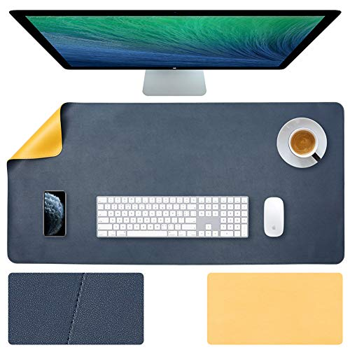 35.4 X 17 Inch Office Desk Pad Protector Waterproof PU Leather Desk Mat Blotters on Top of Desks Laptop Computer Gaming Keyboard Mouse Pad for Women Men Kids Girls Slip Desk Writing Mat Cover