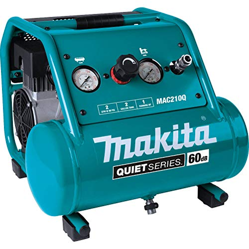 Makita MAC210Q Quiet Series, 1 HP, 2 Gallon, Oil-Free, Electric Air Compressor