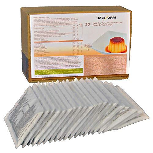 CALYFORM Flan Proteico para dieta sabor Vainilla saciante   Proteína en polvo para preparar flanes   Dieta proteica de calidad y aporte en aminoácidos esenciales (20 sobres)