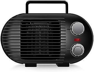 ANKIKI Portátil PTC Cerámica Calefactor,800W Mini Ventilador Calefactor,Ahorro Energía,Antideslizante,Protección Sobrecalentamiento Y Antivuelco, para Sala Estar Dormitorio Oficina,Negro