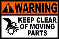 可動部品に近づかない 金属板ブリキ看板警告サイン注意サイン表示パネル情報サイン金属安全サイン