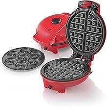 Saachi 2in1 Doughnut & Waffle Maker - Red, 1545