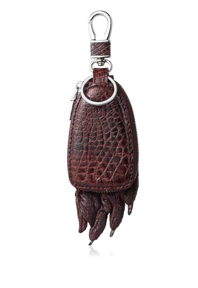 EEKUY Estuche de Cuero con Forma de Garra de cocodrilo, Estuche con Llave para Auto Que se Puede Colgar en la Cintura 5.63 × 1 × 2.3 ,coffeecolor: Amazon.es: Hogar