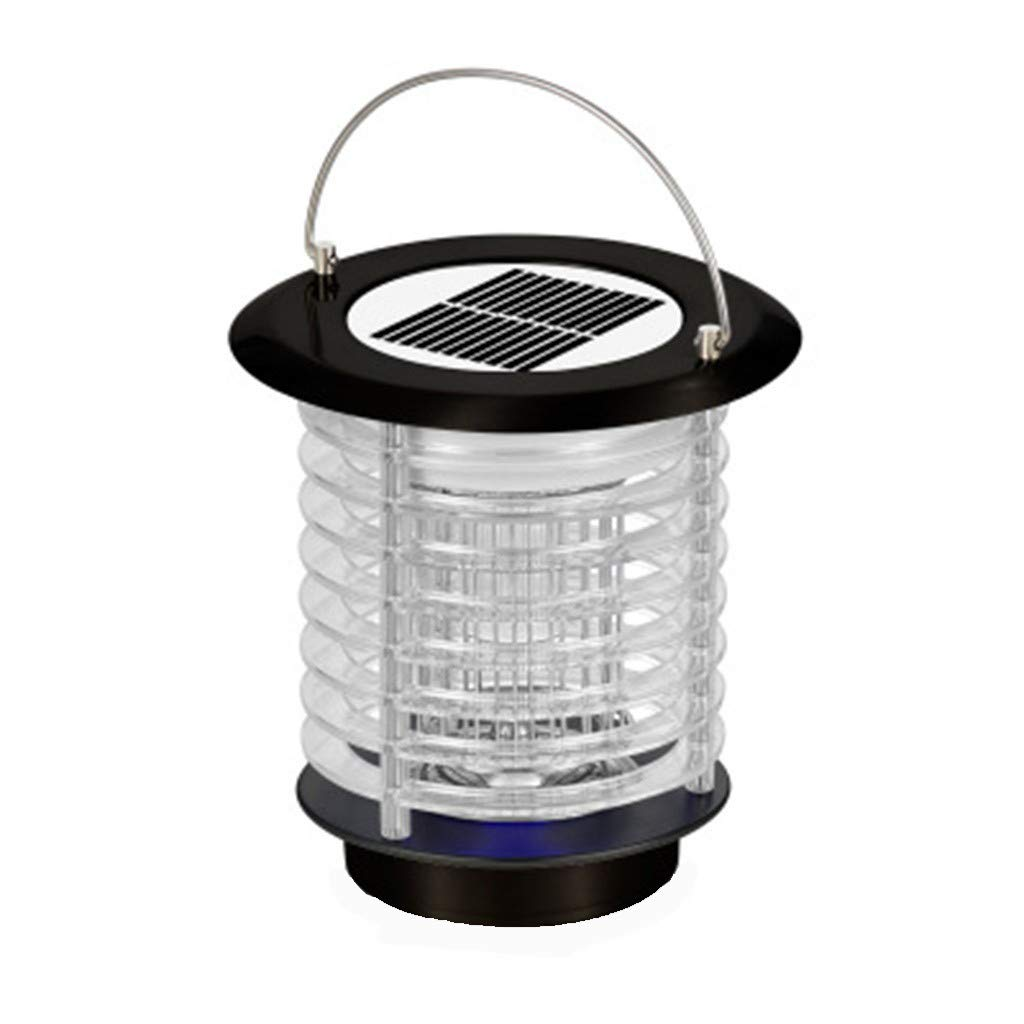 Naiflowers Solar Powered Solar LED Light Pest Bug Zapper Insect Mosquito Killer Lamp Cordless Insect Bugs Fly Mosquito Light, Suit for Indoor Outdoor Home Garden Porch Patio Backyard Lawn