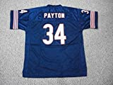 Unsigned Walter Payton #34 Chicago Custom Stitched Blue Football Jersey Various Sizes New No Brands/Logos Size 3XL