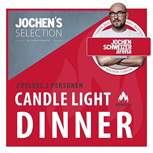 Jochen Schweizer Arena Candle-Light-Dinner Deluxe I 4-Gänge-Menü für 2 Personen I Romantische Geschenke für Feinschmecker I Exklusiver Gourmet Gutschein I Erlebnis-Box Candle Light I Gutschein Date