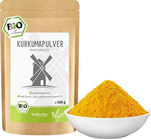BIO Kurkuma Pulver gemahlen 500 g | Kurkumapulver - Curcuma - Curcumin | 100% naturrein | Rohkostqualität | aus Indien von bioKontor