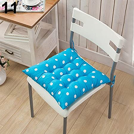 F Dining Chair Pad with Ties,Polka Dot Chair Seat Cushion Garden Dining Home Office Seat Soft Pad with 8 Colors