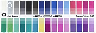 Handy Fabric Color Swatch Cool Summer with 30 Colors for Color Analysis and Image Consulting