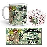 Kembilove Taza de Café de la Mejor Militar del Mundo – Taza de Desayuno para la Oficina – Taza de Café y Té para Profesionales – Taza de Cerámica Impresa – Tazas de Jefe de 350 ml para Militares