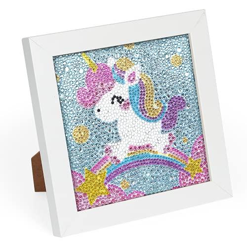Wishstar Unicornio Diamond Painting, 5D DIY Pintura Diamante Infantil, Punto de Cruz Diamante Completo Niños Unicornio Manualidades Cumpleaños Regalo para Niños Niñas