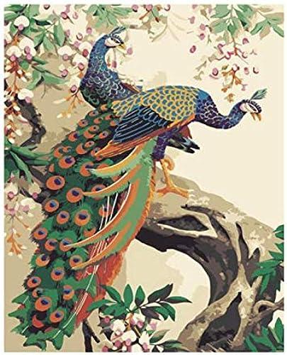 Nuevos productos de artículos novedosos. UPUPUPUP DIY Pintura Pintura Pintura por Números Animal Pintura Al óleo sobre Lienzo Flor árbol Acrílico Arte de la Parojo Decoración para el hogar, Tworidc5-50X70Cm Enmarcado  a precios asequibles