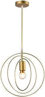 Lámpara colgante moderna E27 Iluminación de techo ajustable en altura Lámparas de araña de mesa de comedor para sala de estar dormitorio comedor cocina (bombilla no incluida) (B, Dorado)