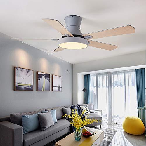 L-WSWS Luz del ventilador de techo 52 pulgadas Moderno Techo Ventilador de ventilador con luces Control remoto Ventilador Lámpara Dormitorio Decoración Aire Enfriamiento Cinco Hoja (Blade Color : 1)