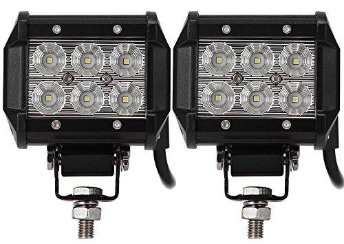 ALPHA DIMA 2X 18W LED 6000K 12V 24V Arbeitslicht Offroad Flutlicht Reflektor Scheinwerfer IP67 Arbeitsscheinwerfer(18 watt)