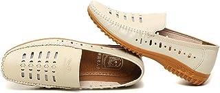 Chaussures de pêcheur en cuir découpé pour homme, chaussures de sport d'été, chaussures de bateau décontractées, chaussure...