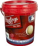 Rawlings Baseball Bucket Sponge Rubber Center Synthetic Cover Baseballs, Youth T-Ball 6U (12 Balls), TVBBUCK12