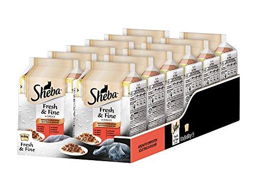 Sheba Fresh & Fine - natte voering voor katten - in extra kleine portiezak - voor meer variatie en frisheid, 12 x (6 x 50 g)