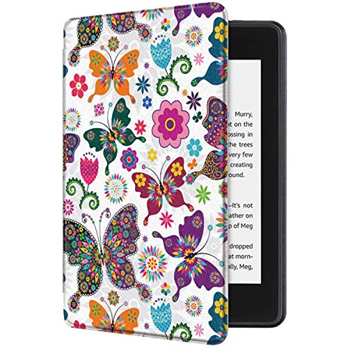 Fundas Amazon Kindle Paperwhite 1 2 3 4 Flip Pintado Carcasa Cuero PC 360° Proteccion Ultra-Delgado Magnética Automático Despertar o Dormir Función Estuche para Amazon Kindle (4, 10)